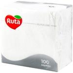 Servetele Ruta albe 1 strat 33x33cm 100buc
