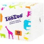 Салфетки столовые ZooZoo однослойные белые 24x23см 100шт