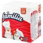 Servetele Familia albe 1 strat 30x30cm 100buc