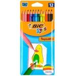 Creioane Bic colorate Tropicolor 12 bucăți