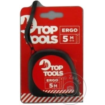 Рулетка с фиксатором Top Tools 5m - купить, цены на Метро - фото 3