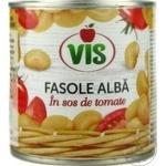 Fasole alba Vis in sos de tomate 410g