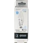 Gauss Bec LED 8W E14 65K C37