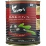 Măsline negre cu sâmbure Farmer Jumbo 820g
