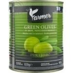 Măsline verzi cu sâmbure Farmer Jumbo 820g