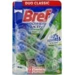 Средство для унитаза Bref Blue Aktiv Duo Pine 2x50г