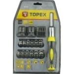 Отвертка + сменные наконечники и головки Topex набор 29шт