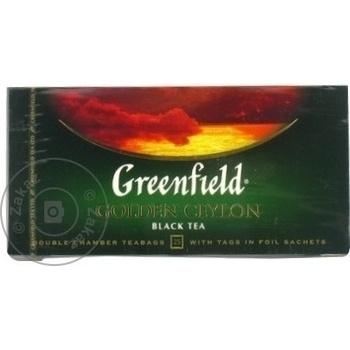 Ceai Greenfield negru in plicuri Ceylon 25x2g - cumpărați, prețuri pentru Metro - foto 3