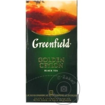 Ceai Greenfield negru in plicuri Ceylon 25x2g - cumpărați, prețuri pentru Metro - foto 1