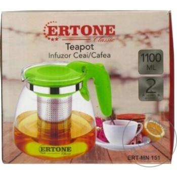Стеклянный чайник Ertone 1,1л - купить, цены на Метро - фото 2