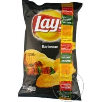 Chips Lay's cu gust de barbeque 140g - cumpărați, prețuri pentru Metro - foto 1