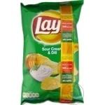 Chips Lay's cu gust de smantana si verdeata 140g - cumpărați, prețuri pentru Metro - foto 1