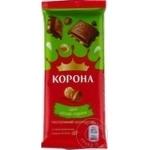 Ciocolata Korona lapte cu alune intregi 90g