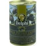 Măsline negre fără sâmbure Delphi 261-290 400g