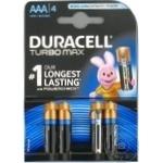 Батарейки Duracell Turbo AAA MN2400 ULTRA K4 4шт