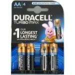 Батарейки Duracell Turbo AA MN1500 K4 4шт