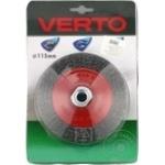 Щетка Verto проволочная дисковая 115мм