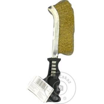 Щетка проволка латунь Торех с пластмассовой ручкой 240мм - купить, цены на Метро - фото 2