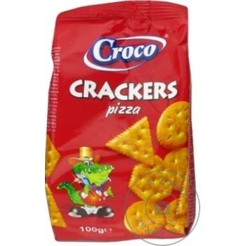 Crackers Croco cu gust de pizza 100g - cumpărați, prețuri pentru Metro - foto 1