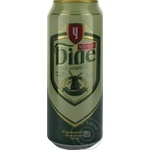 Пиво светлое Черниговське нефильтрованное ж/б 0,5л
