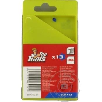 Сверла по металлу Top Tools HSS набор 13шт 1,5-6,5мм - купить, цены на Метро - фото 2