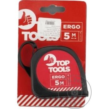 Рулетка с фиксатором Top Tools 5m - купить, цены на Метро - фото 1
