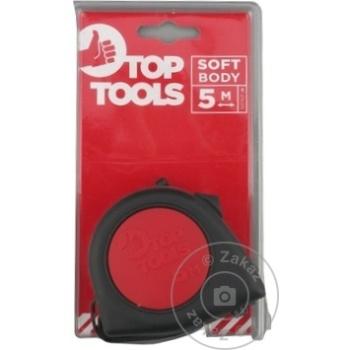 Рулетка с фиксатором Top Tools прорезиненная 19мм х 5м (1упак=10шт) - купить, цены на Метро - фото 3