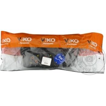 Удлинитель Viko 3 гнезда 5м 16A черный - купить, цены на Метро - фото 2
