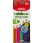 Карандаши цветные Fibracolor Rainbow с точилкой 12цв