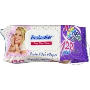 Servetele umede Freshmaker Jumbo 120buc - cumpărați, prețuri pentru Metro - foto 2