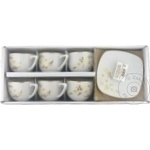 Набор чашек для чая Flori фарфор 200мл 6шт