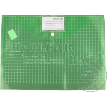Папка-конверт W209 на кнопке ассорти A4 - купить, цены на Метро - фото 1