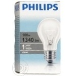 Лампа накаливания Philips A55 100Ватт E27 патрон обычный прозрачная