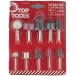 Шлифовальный набор для дрели-шуруповерт Top Tools 10шт