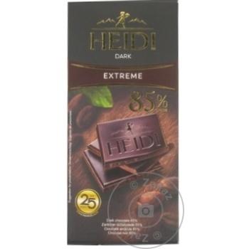 Ciocolata Heidi neagra amaruie 85% de cacao 80g - cumpărați, prețuri pentru Metro - foto 1