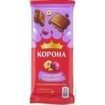 Ciocolata Korona lapte alune si stafide 85g