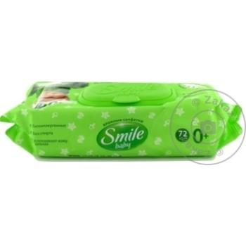 Влажные салфетки Smile Ромашка 72шт - купить, цены на Метро - фото 3