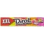 Жевательная резинка Dirol ассорти XXL со вкусом фруктов 19г