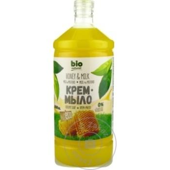 Жидкое мыло Naturell Bio Мёд (запаска) 1л - купить, цены на Метро - фото 1