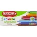 Набор смываемых фломастеров Fibracolor 6шт в комплекте