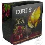 Ceai Curtis negru in piramide cu struguri 20x1,8g